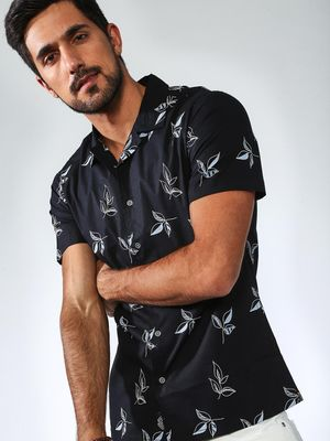 Sheltr All Over Printed Leave Shirt