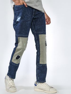 Sheltr Over Sewed Patched Jeans