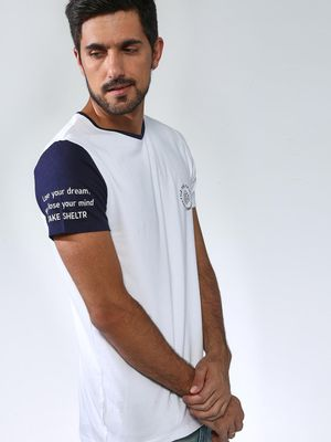 Sheltr Casual Round Neck Slim Tshirts