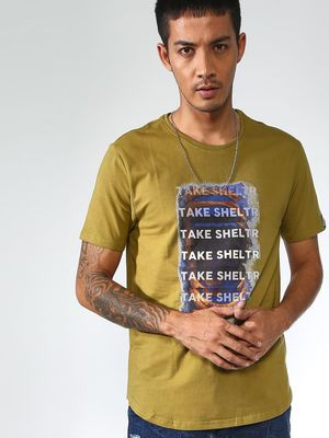 Sheltr Placement Print Round Neck Tshirts