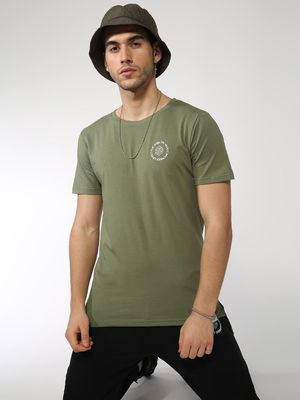 Sheltr High-Low Hem Crew Neck T-shirt