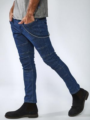 Sheltr Regular Panelled Side Chain Jeans