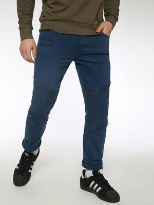 Sheltr Zipper Biker Panel Slim Jeans