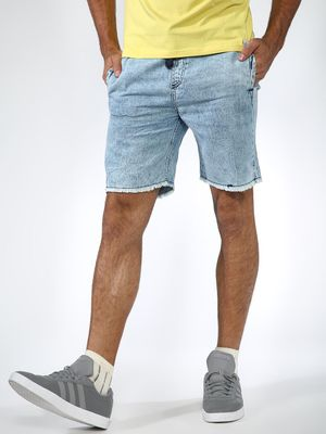 Sheltr Distressed Slim Fit Shorts