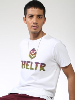 Sheltr Text Placement Print Crew Neck T-Shirt