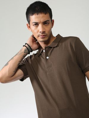 Sheltr Back Print Short Sleeves Polo Shirt
