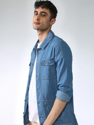 Blue Saint Acid Wash Denim Jacket