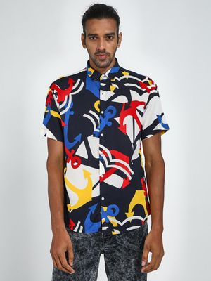 Green Hill All Over Printed Slim Fit Shirt