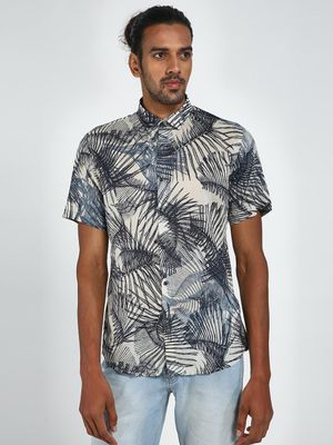 Green Hill All Over Print Short Sleeve Shirt