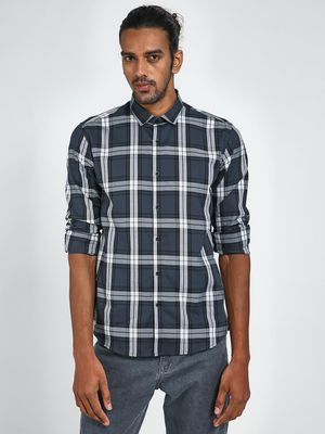 Green Hill Check Print Casual Shirt