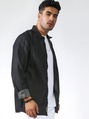 KOOVS Long Sleeve Chambray Shirt