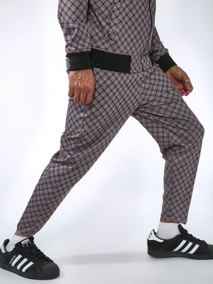 SID & SOM Multi-Check Slim Fit Jog Pants
