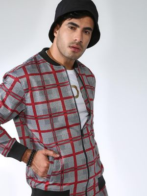 SID & SOM Windowpane Check Bomber Jacket