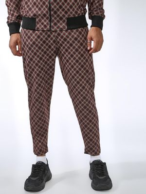 SID & SOM  Multi-Check Cropped Jog Pants
