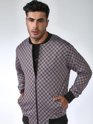 SID & SOM All Over Multi Check Bomber Jacket