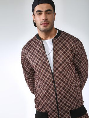 SID & SOM Checkered Long Sleeves Bomber Jacket