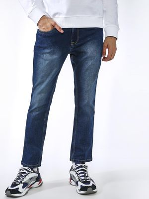 K Denim KOOVS Dark Wash Slim Jeans