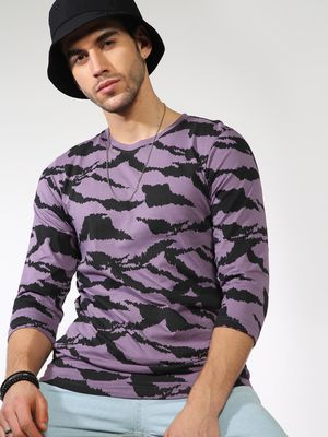 Kultprit All Over Print Round Neck T-shirt