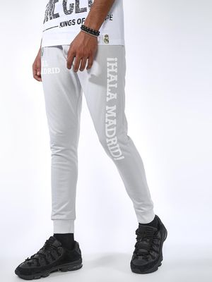 REAL MADRID Slogan Print Slim Fit Jog Pants