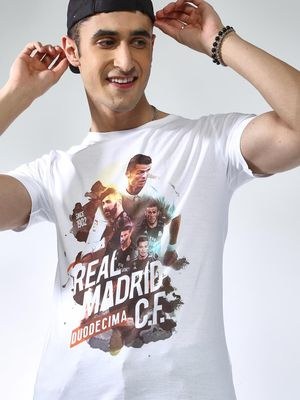 REAL MADRID Graphic Print Short Sleeves T-shirt