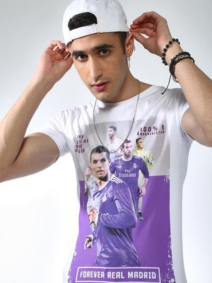 REAL MADRID Digital Print Short Sleeves T-shirt