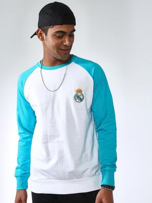 REAL MADRID Contrast Slim Fit Sweatshirt