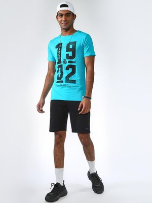 REAL MADRID Numeric Print Crew Neck T-shirt