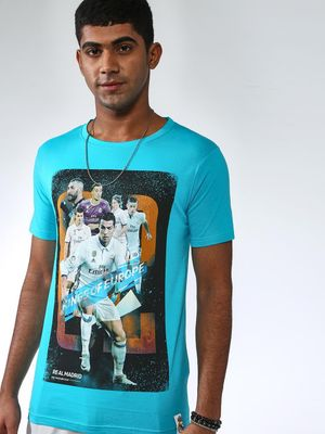 REAL MADRID Digital Print Round Neck T-shirt