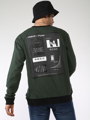 Blue Saint Over Sewed Back Patch Sweatshirt