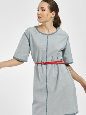Bhaane Reverse Mini Denim Dress