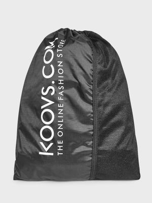 KOOVS Logo Print Drawstring Backpack