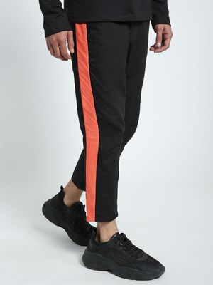 CHELSEA KING Contrast Side Panel Cropped Chinos