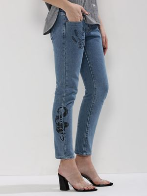 Liquor n Poker Graffiti Denim Jeans