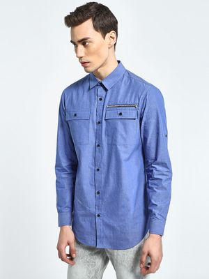 CHELSEA KING Twin Pocket Casual Shirt