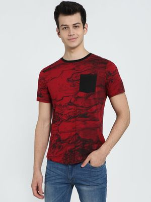 IMPACKT Patch Pocket Printed Crew Neck T-Shirt