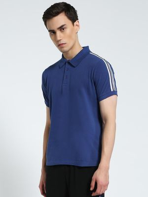 CHELSEA KING Contrast Tape Pique Polo Shirt