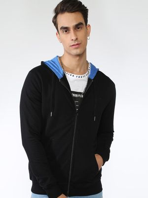 Blue Saint Zipper Casual Sweatshirts