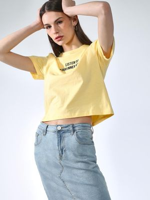 Blue Saint Slogan Printed T-Shirt