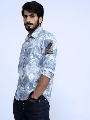 Good Stuff Electric Eye All Over Marble Print Shirt