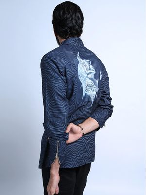 Good Stuff Back Badge Skull Printed Jacket