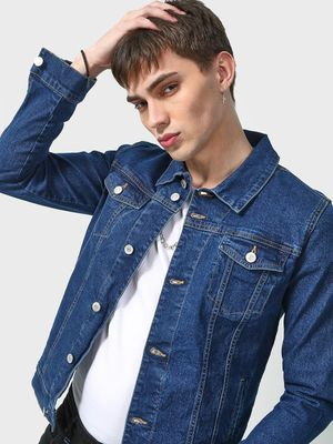 K Denim Koovs Mid-Wash Denim Jacket