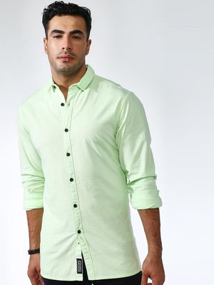 KOOVS Long Sleeve Muscle Fit Shirt