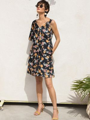 Vajor Floral Midi Dresses