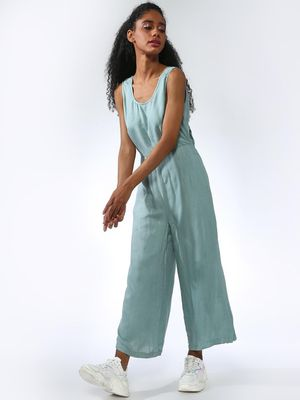 Vajor Back Knot Tie Sleeveless Jumpsuits