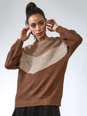 Vajor Knitted Multi-Stripe Pullover