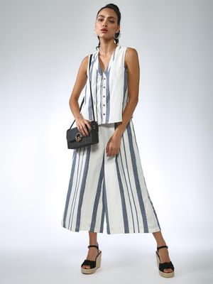 Vajor Sleeveless Stripe Jumpsuit