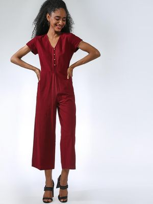 Vajor Front Button Closure Jumpsuits