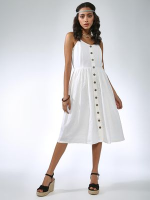 Vajor Button Through Midi Dress