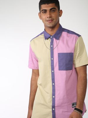 ABG Colour Block Slim Shirt
