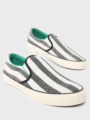 ABG Vertical Stripe Slip-On Shoes